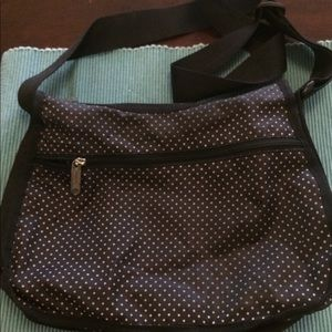 Classic hobo - blue with white polka dots